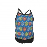 TURTLES OPAL BLUE Summer Two Piece Fashion Girl Swimsuit,Suitable for most girls aged 3-6.