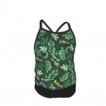 Toucan Summer Two Piece Fashion Girl Swimsuit,Suitable for most girls aged 3-6.