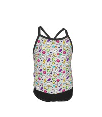 Sprinkle Shower Of Colorful Pills Pharmacy Icons Drugs Research Medical Research Prescription Pills Summer Two Piece Fashion Girl Swimsuit,Suitable for most girls aged 3-6.