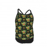 Sloth Summer Two Piece Fashion Girl Swimsuit,Suitable for most girls aged 3-6.