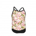 Pretty In Pink Large Blossoms By In The Beginning Summer Two Piece Fashion Girl Swimsuit,Suitable for most girls aged 3-6.