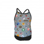 NBA Basketball All Teams Summer Two Piece Fashion Girl Swimsuit,Suitable for most girls aged 3-6.