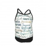 Journey - Small Script On White Summer Two Piece Fashion Girl Swimsuit,Suitable for most girls aged 3-6.