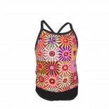 FQ Or More Kaffe Fassett SUNBURST Summer Two Piece Fashion Girl Swimsuit,Suitable for most girls aged 3-6.
