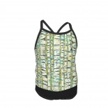 Birch Trees Green Summer Two Piece Fashion Girl Swimsuit,Suitable for most girls aged 3-6.