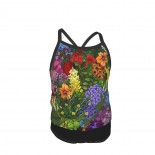 Botanic Garden Summer Two Piece Fashion Girl Swimsuit,Suitable for most girls aged 3-6.