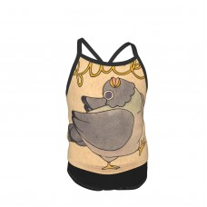 'Fuck' Pigeon 02 Summer Two Piece Fashion Girl Swimsuit,Suitable for most girls aged 3-6.