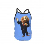 Lion Mayor Of Zootropolis Summer Two Piece Fashion Girl Swimsuit,Suitable for most girls aged 3-6.