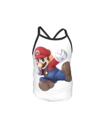 Mario Summer Two Piece Fashion Girl Swimsuit,Suitable for most girls aged 3-6.