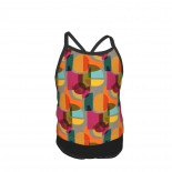 Mid Century Kaleidoscope Summer Two Piece Fashion Girl Swimsuit,Suitable for most girls aged 3-6.