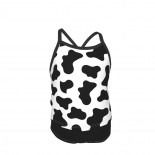 Moo Cow Print Summer Two Piece Fashion Girl Swimsuit,Suitable for most girls aged 3-6.