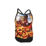 One Piece Kasaski Summer Two Piece Fashion Girl Swimsuit,Suitable for most girls aged 3-6.