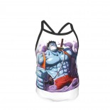 One Piece Luffy Summer Two Piece Fashion Girl Swimsuit,Suitable for most girls aged 3-6.