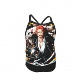 One Piece Redhead Shanks Summer Two Piece Fashion Girl Swimsuit,Suitable for most girls aged 3-6.