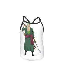 One Piece Roroa Zoro Summer Two Piece Fashion Girl Swimsuit,Suitable for most girls aged 3-6.