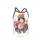 One Piece Straw Hat Luffy Summer Two Piece Fashion Girl Swimsuit,Suitable for most girls aged 3-6.