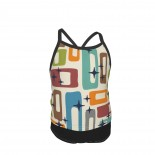 Retro Mid Century Modern Abstract Pattern Summer Two Piece Fashion Girl Swimsuit,Suitable for most girls aged 3-6.