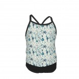 Seashells On Off White Summer Two Piece Fashion Girl Swimsuit,Suitable for most girls aged 3-6.