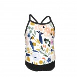Sierra Floral Summer Two Piece Fashion Girl Swimsuit,Suitable for most girls aged 3-6.
