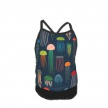 Smaller Just Jellies Summer Two Piece Fashion Girl Swimsuit,Suitable for most girls aged 3-6.
