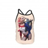Suicide Squad Harley Quinn Summer Two Piece Fashion Girl Swimsuit,Suitable for most girls aged 3-6.