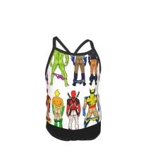 Superhero Butts Summer Two Piece Fashion Girl Swimsuit,Suitable for most girls aged 3-6.