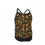 Vintage & Shabby Chic - Autumn Harvest Black Summer Two Piece Fashion Girl Swimsuit,Suitable for most girls aged 3-6.