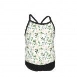 Watercolor Larger Flower Farmhouse Floral Summer Two Piece Fashion Girl Swimsuit,Suitable for most girls aged 3-6.