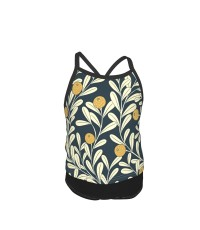 Waved Vines And Fruit Summer Two Piece Fashion Girl Swimsuit,Suitable for most girls aged 3-6.