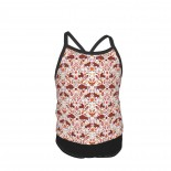 Year Of The Ox Orange And Red Summer Two Piece Fashion Girl Swimsuit,Suitable for most girls aged 3-6.